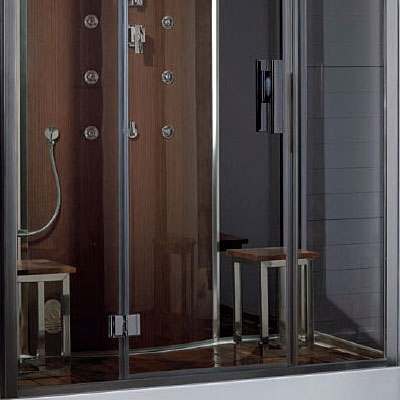 Ariel platinum steam shower for two people