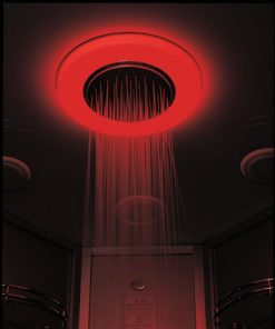 color therapy lighting in sauna