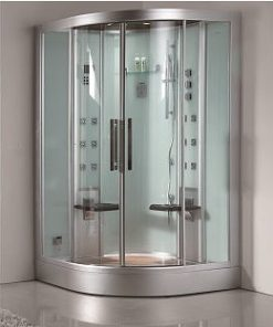 ariel platinum two person corner steam shower