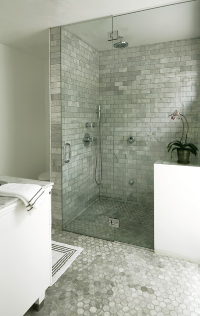 Custom tiled steam shower enclosure