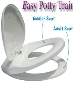 easy potty trainer 2 in 1 adult / child integrated toilet seat